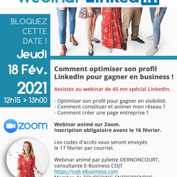 Tourcoing Entreprendre webinar LinkedIn
