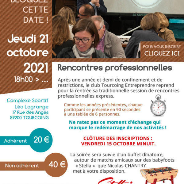 Tourcoing Entreprendre - speed business meeting
